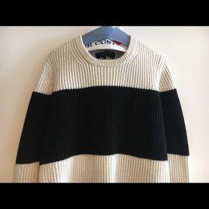 Rag & Bone white and black stripe sweater.